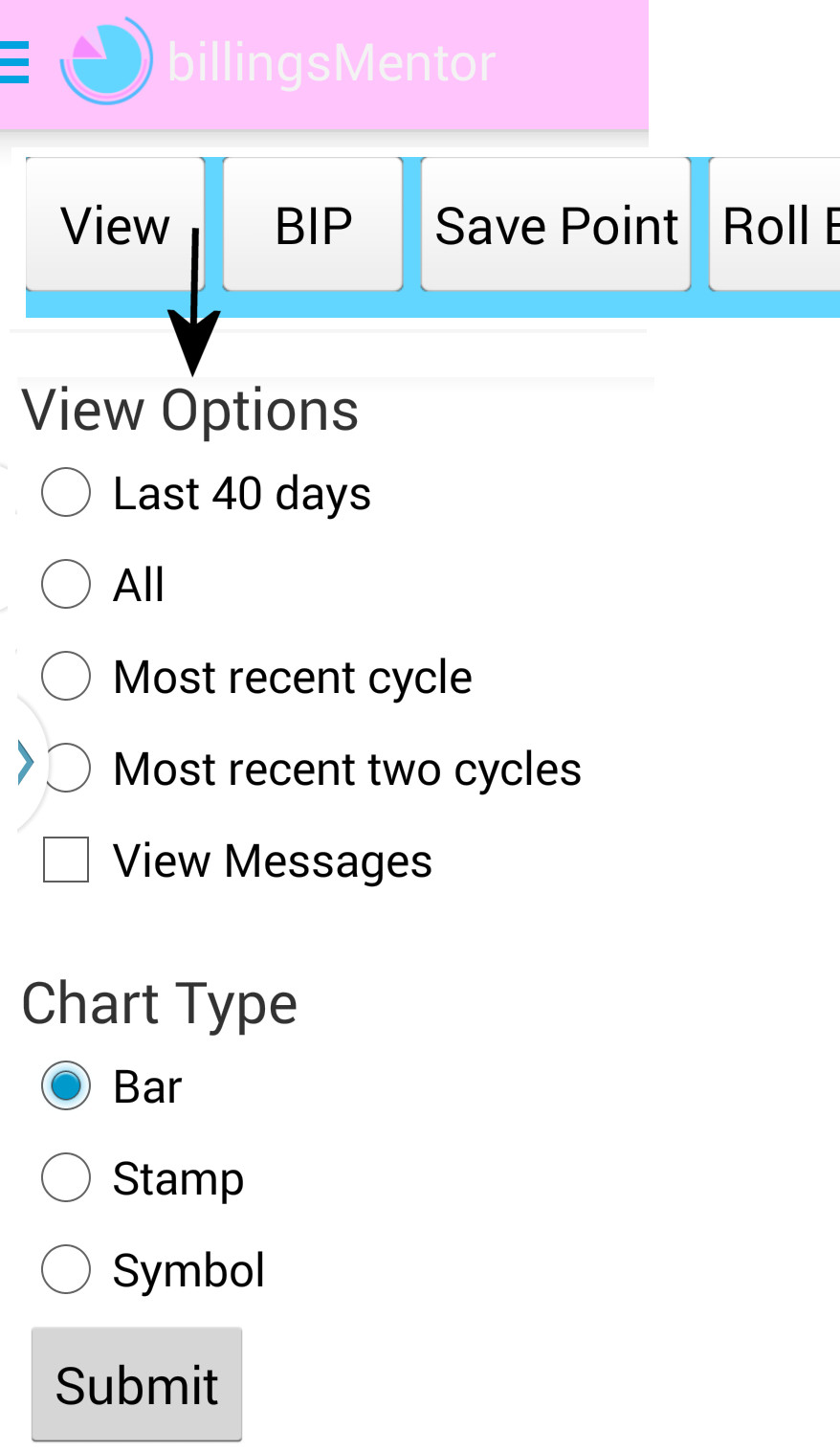 View options