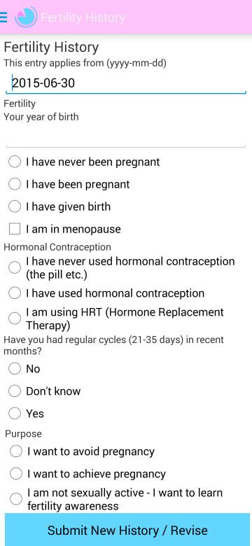 Fertility History